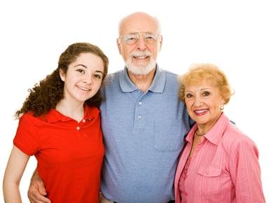 Teen with Grandparents CS1106864